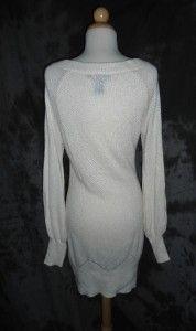 Arden B L Large Rayon Ivory Long Sleeve Sweater Dress