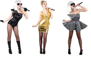 Lady Gaga Madonna Lady Pop Star Fancy Dress Costume