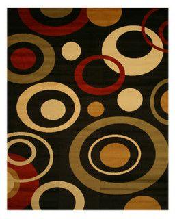 Modern Solareve Black Red Area Rug Runner All Available Sizes
