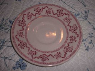Four Johnson Brothers Saucers Petite Fleur Pattern Laura Ashley Pink