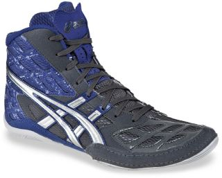 Mens Asics Split Second 9 Wrestling Shoe Graphite Silver Royal