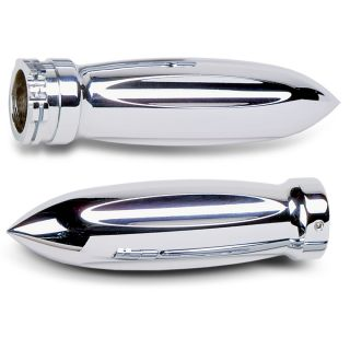 Arlen Ness Grips for Cable Style Bars Torpedo Pair Chrome Harley