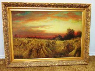 RARE R Atkinson Fox Antique Art Original Oil Painting After The