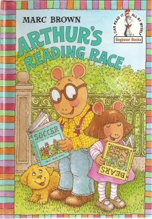 MARC BROWN Arthurs Reading Race HC Beginner Books