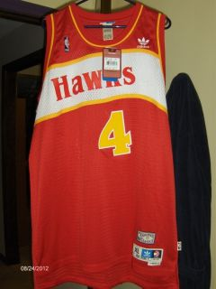 Autographed Basketball Jersey Atlanta Hawks 4 Spud Webb