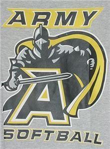 States Military Academy Army Softball Black Knight T Shirt LG