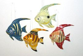 Artificial Tropical Fish 12pc Decorative Fake Craft Fish from