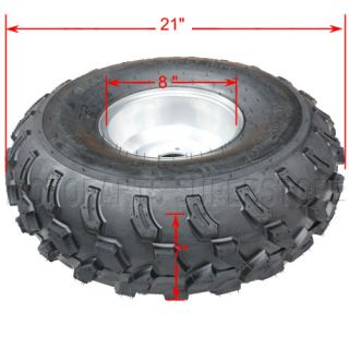 21x7 8 Wheel Tire Wheels Rim ATV Quad Go Kart 125cc 150cc 200cc Taotao