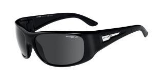 Arnette Heist sunglasses Shiny Black POLARIZED Grey NEW in Box AN4135