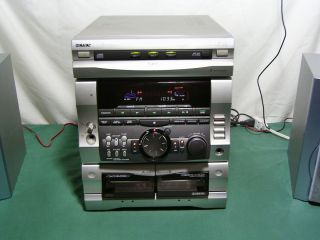 Compact Stereo System Receiver Cassette CD Player 120 Watts RMS