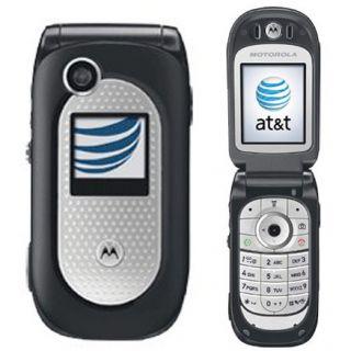 New Motorola V365 Unlocked Rugged Flip Cell Phone PTT ATT