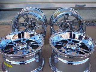 ITP SS112 Chrome Aluminum ATV Wheels New Set 4 Life Warranty