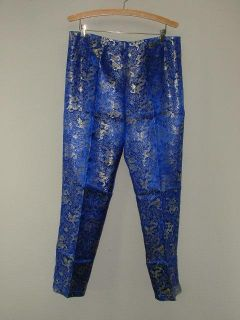 New Traditional Chinese Dress Pants Blue Dragon Pattern