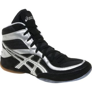 New Asics Split Second 7 Wrestling Shoes Boots Black Silver or Black