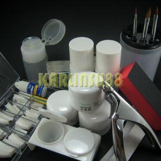 Professional Acrylic Nail Art Full Kit Set Powder Tips