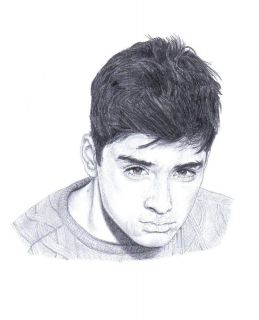 ZAYN MALIK ONE DIRECTION pencil art drawing Ltd Edition print