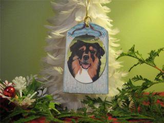 AUSTRALIAN SHEPHERD AUSSIE DOG Personalized Christmas Ornament Art 2