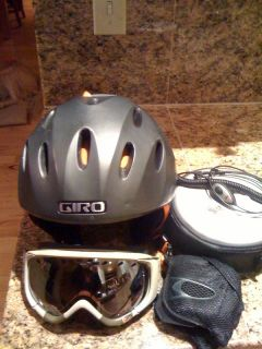 Giro Fuse Ski Helmet With Audio, Mens Med, Green With Smith Phenon
