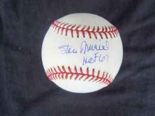 Stan Musial Signed MLB Baseball Insc HOF 69 Comes with COA