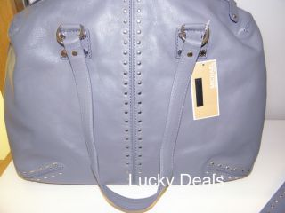 Michael Kors Astor Weekender Satchel Handbag Bag Denim