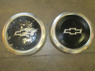 Chevy Truck Pickup Two Hubcaps Hub Cap Wheel Cover GMC Astro Van GM