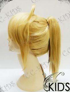 stay night saber lily arthur cosplay wig costume materials high