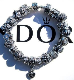 Authentic Pandora 925 Sterling Silver Bracelet Beads Charms Simply