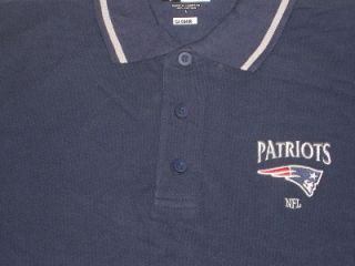 New NFL Authentic New England Patriots Mens Polo Shirt Medium Large