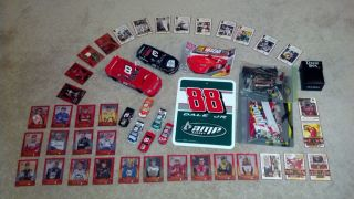 Earnhardt Sr Jr Die Cast Car Mega Bloks Trading Card Wall Sign LOT