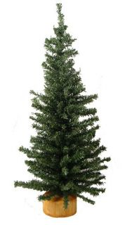 Features of 18 Mini Pine Artificial Village Christmas Tree   Unlit