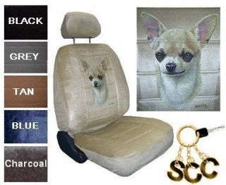 Chihuahua Dog Car Truck SUV New Bucket Seat Covers PP