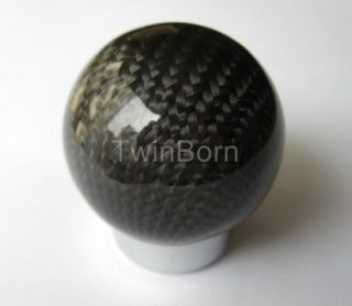 Automatic Trans Real Carbon Fiber Ergonomic Gear Shift Knob Head