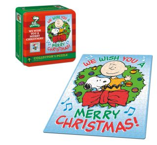 peanuts we wish you a merry christmas puzzle tin peanuts