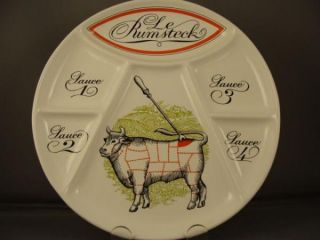 french porcelaine d auteuil rumsteck steak plate