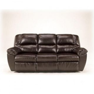 Ashley Rouge Durablend Mahogany Reclining Sofa Chair w Power Free