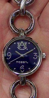 Auburn University Tigers Fossil Bracelet Watch LI2941