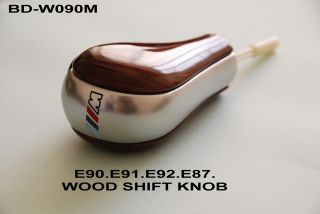 E91 R92 E87 E64 X1 Z4 M3 WOOD AUTOMATIC GEAR SHIFT SHIFTER STICK KNOB