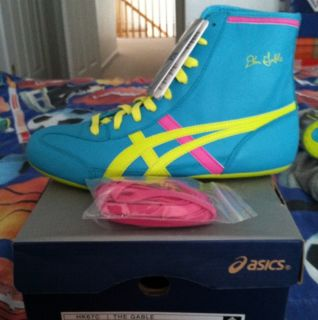 Asics Dan Gable Teal Wrestling Shoes   Brand New With Original Box and