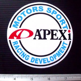 APEXI Round Nonreflective Racing Car Sticker Decal 4