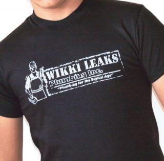 Wikki Leaks T Shirt Julian Assange Humor Tee Wiki Funny
