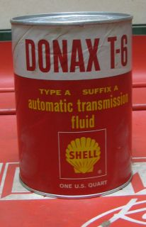Vintage Oil Can Shell Donax T 6 Auto Transmission Fluid 1 Qrt Can