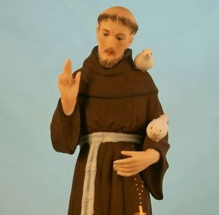 Vintage Napco St. Francis of Assisi Italy Saint of Animals Environment