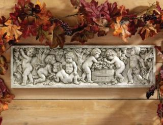 Autumn Wine Harvest Italian Wall Sculpture