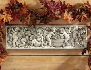 Autumn Wine Harvest Italian Wall Sculpture
