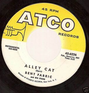 Atco Records 45rpm Bent Fabric Alley Cat Markin Time