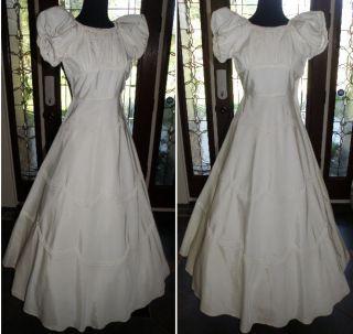 VINTAGE 1930s FORMAL PROM WEDDING PARTY DRESS S M FABULOUS DRESS