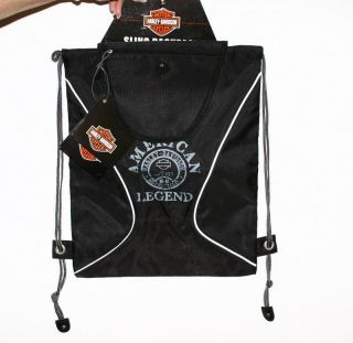 Harley Davidson Sling Bag Backpack Slingbag Black by Athalon