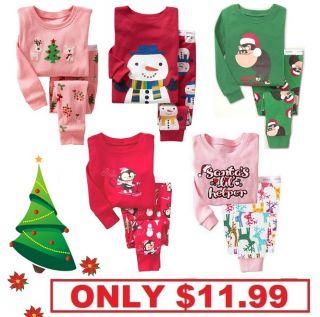 Christmas Gift Cute Baby Gap Pyjamas Long Sleeve Boy Girl Toddler