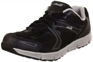 Avia A5643M BSV Mens Black Grey Leather Athletic Running Comfort