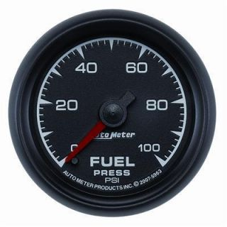 Auto Meter 5963 ES Electrical Fuel Pressure Gauge 2 1 16 Dia Black